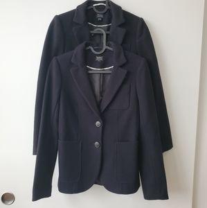 Aritzia Talula Navy and Black Wool Blazers 00